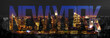 canvas print picture - New York City Skyline Night