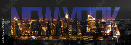 canvas print picture New York City Skyline Night
