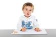 Kleiner Junge am zeichnen