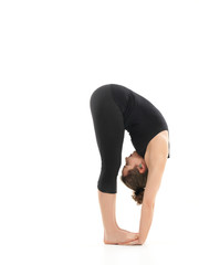 demonstration of elasticity yoga pose