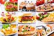 collage of fast food producrs