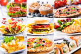 Fototapety collage of fast food producrs