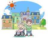 Pleasant town - Wheelchair poster