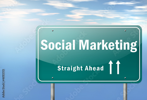 "Highway Signpost ""Social Marketing"""