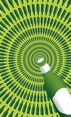 Obracający się tunel - złudzenie optyczne - wertykalnie