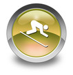 "Yellow Glossy Pictogram ""Downhill Skiing"""