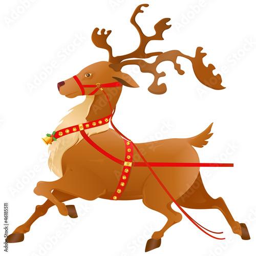 卡通圣诞老人矢量图图片; 圣诞老人和驯鹿图片圣诞老人与驯鹿_圣诞图片