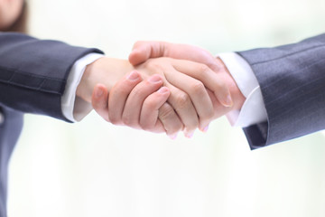 Handshake of the two businessmen,