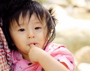 浴衣姿の赤ちゃん A Baby wearing Yukata