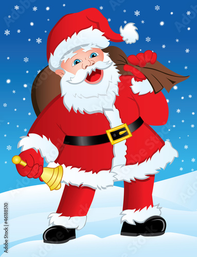 Santa with Gifts & Bell