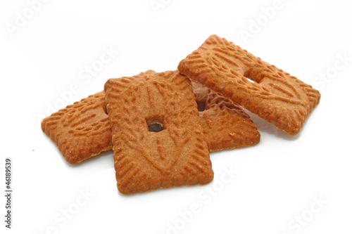 Papiers peints Biscuit Speculoos sur fond blanc