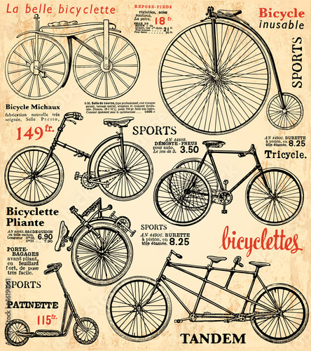 Foto op Plexiglas Kranten Fond Vélo 2