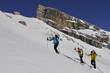 Skitourengruppen in den Sextner Dolomiten