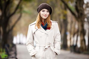 Beautiful girl at street.