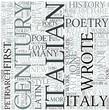 Italian literature Discipline Study Concept