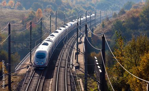 canvas print picture Hochgeschwindigkeitszug