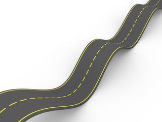 carretera ondulada