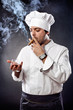 Chef with cigar and cognac