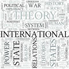 International relations Discipline Study Concept