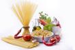 pasta spaghetti con ortaggi e spezie