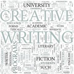 Creative writing Discipline Study Concept