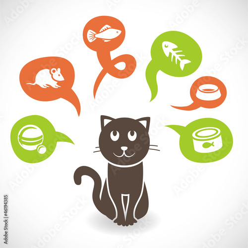 Vector funny cartoon cat