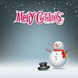 Snowman design on snowflake background. vector