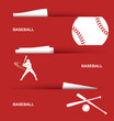 Baseball banners - vector illustration