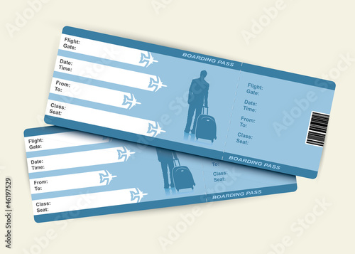 Airplane tickets - vector illustration