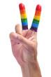 gay V sign