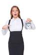 disturbed businesswoman