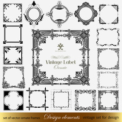 Set calligraphic design elements and page decoration