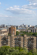 Жилые районы Москвы. Вид сверху.