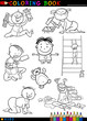 cartoon cute babies for coloring