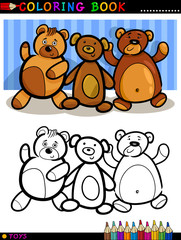 Teddy Bears cartoon for coloring
