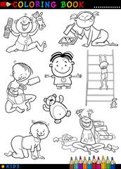 cartoon cute babies for coloring
