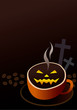 Coffee cup design for halloween