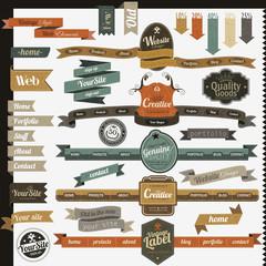 Vintage style website elements