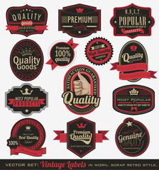 Vintage premium quality and most popular labels.