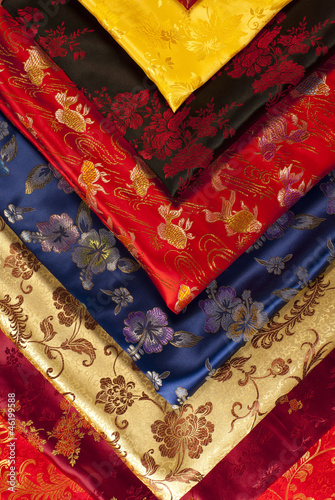 Colorful chinese fabric samples