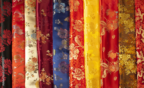 Colorful  chinese silk samples