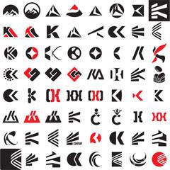 K letter vector sign