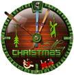 Merry Christmas Grunge Clock