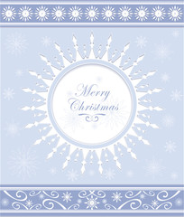 Winter background or snowflakes frame with ornament