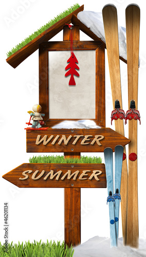 Christmas Holidays Wooden Sign