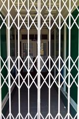Gitter zur Absperrung. Abgeschlossen