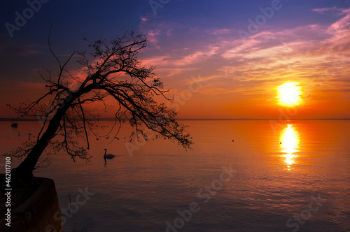 Sunset at the Lake - Garda Lake - Italy
