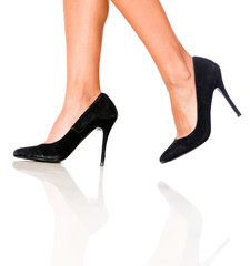 Walking in high-heels