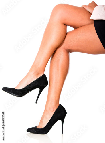 Woman crossing legs