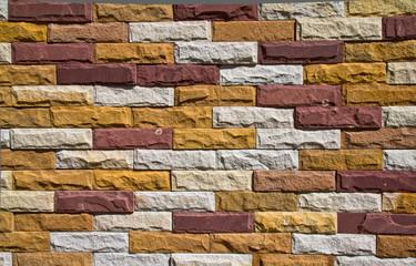 Pattern of Modern stone Brick Wall